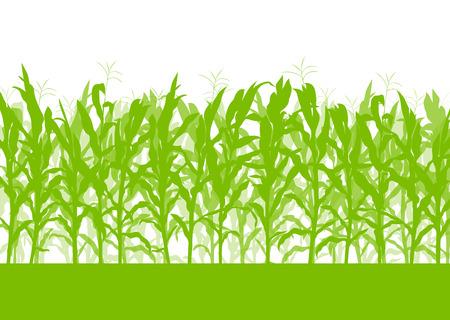 Illustration pour Corn field vector background ecology green concept for poster - image libre de droit