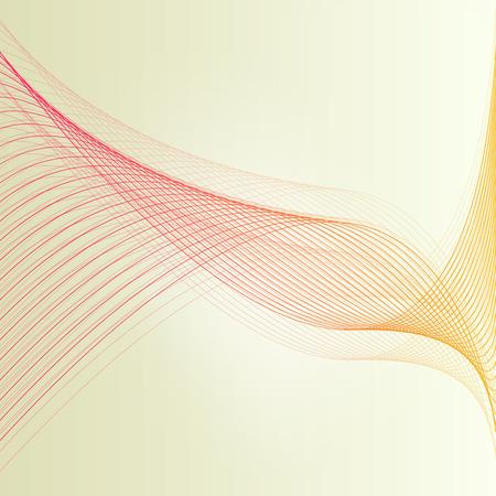 Illustration pour Abstract wave vintage retro lines background vector illustration motion concept - image libre de droit