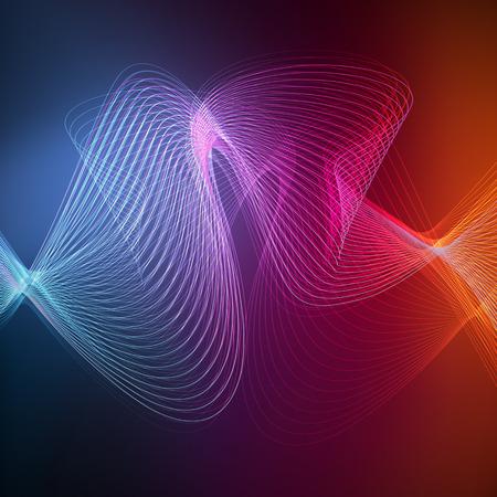 Illustration pour Neon abstract background vector concept of transparent wave lines - image libre de droit
