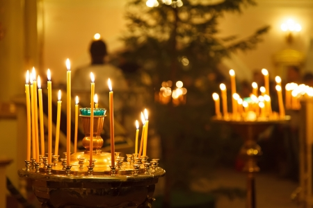 many candles in a russian church
