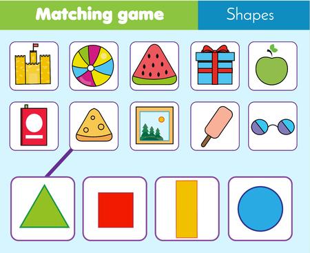 Matching game worksheet for kids.