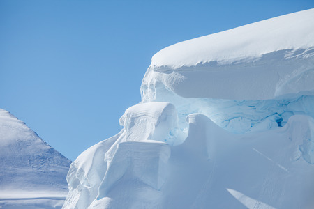 iceberg in antarctica on the cold weather