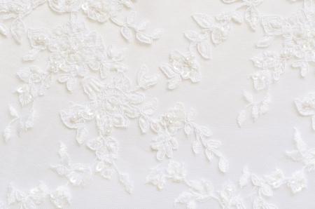 Foto de White wedding lace for background - Imagen libre de derechos