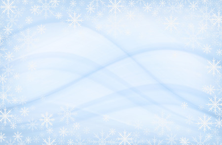 Photo for Snowflakes frame on blue abstract background - Royalty Free Image