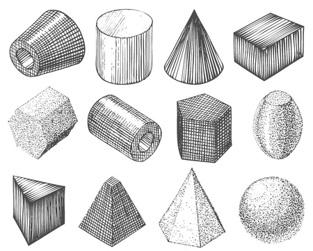 geometric shapes by hand