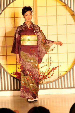 kimono show in Kyoto