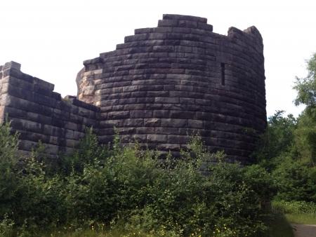 Liverpool castle ruins.