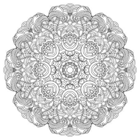 Round Swirl Mandala