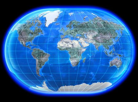 The mapa mundi painted in high resolution.