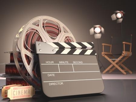 Clapboard concept of cinema