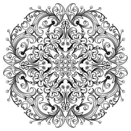 Illustration pour Vector floral ethnic ornamental illustration. - image libre de droit