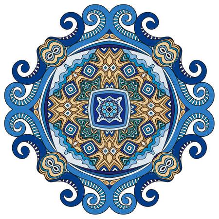 Illustration pour Vector decorative ornamental flower illustration - image libre de droit