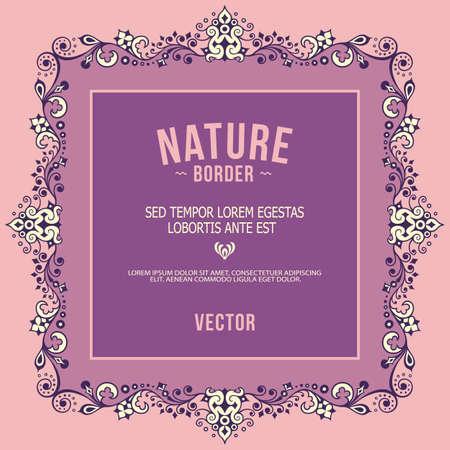 Illustration pour Vector ornamental nature vintage border - image libre de droit