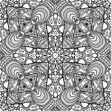 Illustration pour Vector abstract modern cartoon seamless pattern - image libre de droit