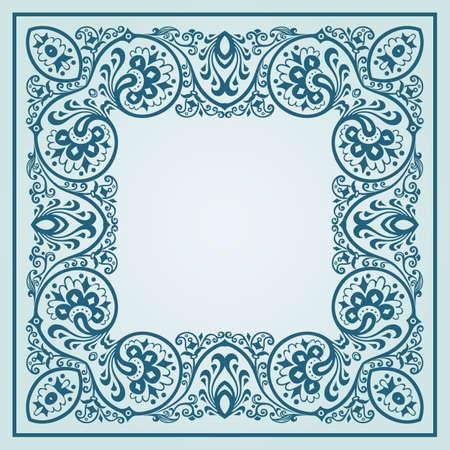 Illustration pour Vector floral ethnic ornamental illustration - image libre de droit