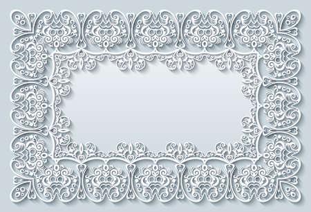 Illustration pour Abstract vector ornamental nature vintage frame. - image libre de droit
