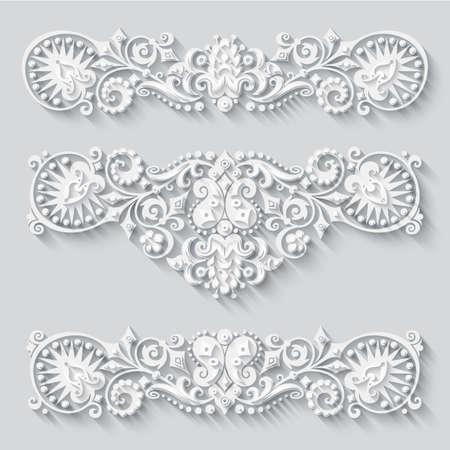Illustration pour Vector modern volumetric floral elements - image libre de droit