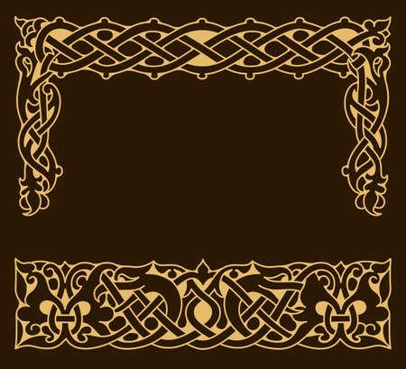 Illustration pour Ethnic ornamental vintage frame. - image libre de droit