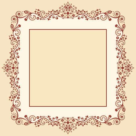 Photo pour Vector ornamental nature vintage border - image libre de droit