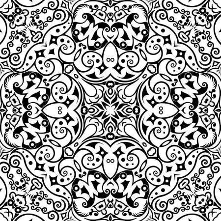 Illustration pour Vector ethnic hand drawn ornamental background. - image libre de droit