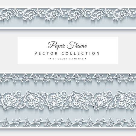 Illustration for Vector abstract ornamental nature vintage frame. - Royalty Free Image