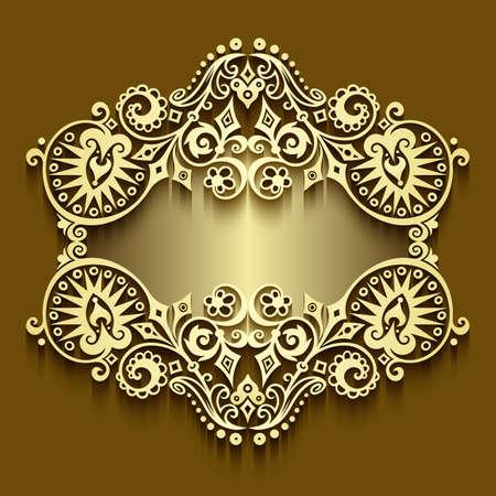 Illustration pour Vector abstract ornamental nature vintage frame. - image libre de droit