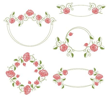 Vektor für Floral ornaments vignette and frames, color - Lizenzfreies Bild