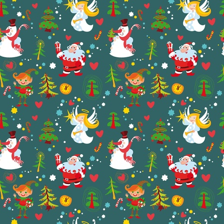 Illustration for New Year's background, Christmas seamless wallpaper pattern(76).jpg - Royalty Free Image
