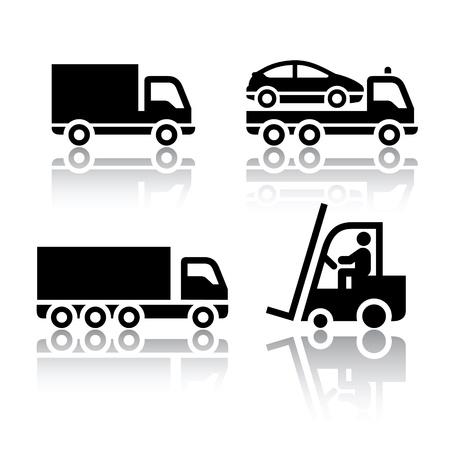 Illustration pour Set of transport icons - truck - image libre de droit
