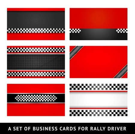 Business card - rally driver templates