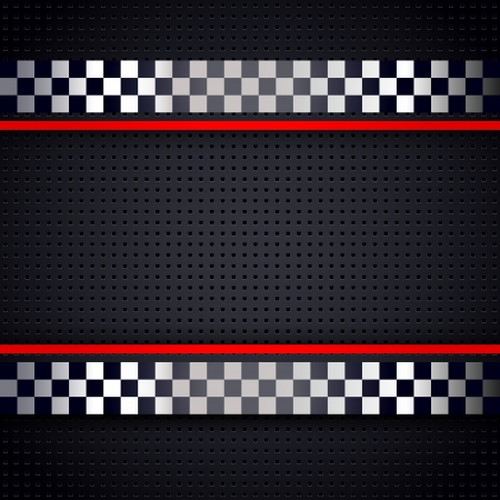 Illustration pour Structured metallic perforated for race sheet background - image libre de droit