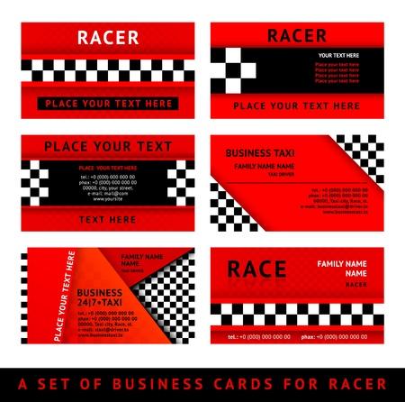 Illustration pour Business card driver race - third set - image libre de droit