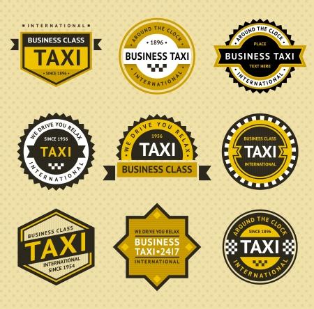 Ilustración de Taxi insignia - vintage style - Imagen libre de derechos