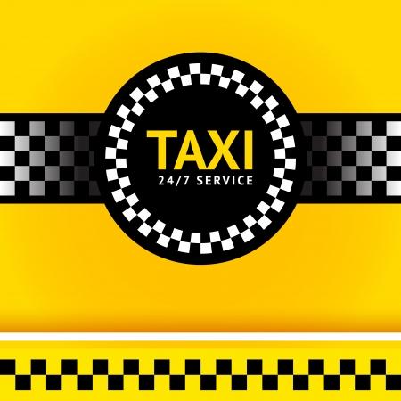 Taxi symbol, square