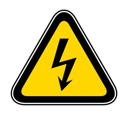 Illustration pour Triangular yellow Warning Hazard Symbol, vector illustration - image libre de droit