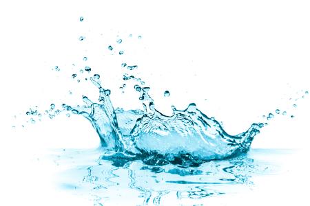 Photo pour turquoise water splash, isolated on white - image libre de droit