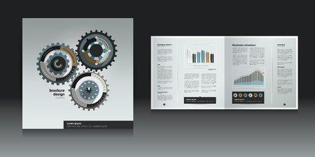 Brochure, flyer, newsletter, annual report layout template  Business background concept