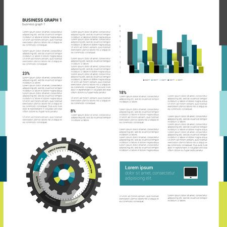 Brochure, flyer design template  Modern minimalistic layout