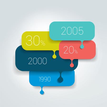 Illustration pour Speech bubble diagram scheme. Infographic element. - image libre de droit