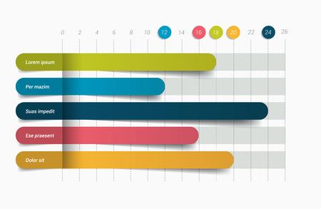 3D chart, graph. Infographics element. Vector.