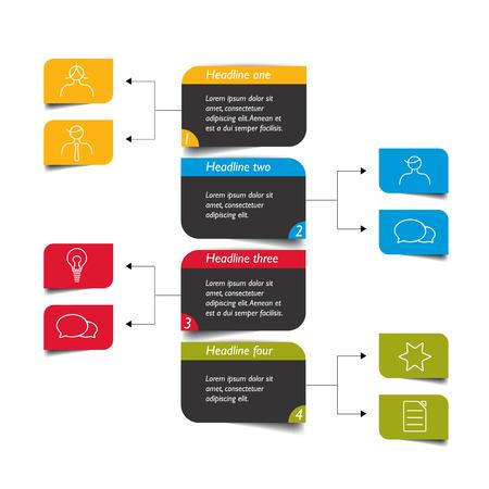 Illustration pour Flowchart diagram, scheme. Infographic element. - image libre de droit