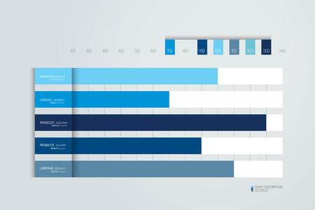 Illustration pour Flat chart, graph, scheme. Simply color editable. Infographics element. Vector. - image libre de droit