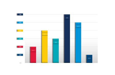 Foto de Chart, graph, scheme. Simply color editable. Infographics element. Vector. - Imagen libre de derechos