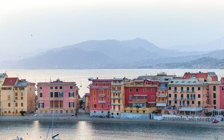 Sestri Levante, Genoa, Italy. Landscape of a beautiful bay in Sestri Levante