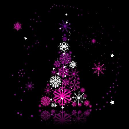 Illustration pour Christmas tree beautiful - image libre de droit