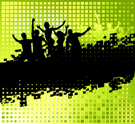 Funny party background with place for your text