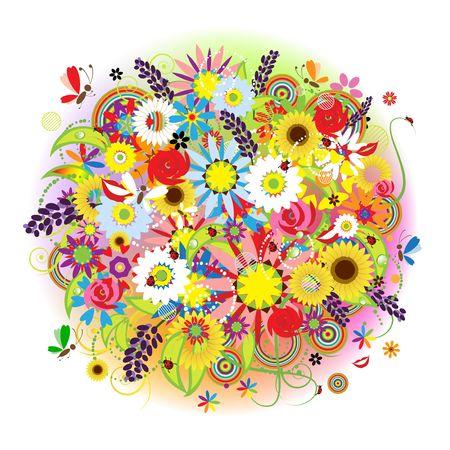 Illustration pour Floral bouquet beautiful for your design - image libre de droit