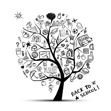 Foto de Tree of knowledge, concept of school for your design - Imagen libre de derechos
