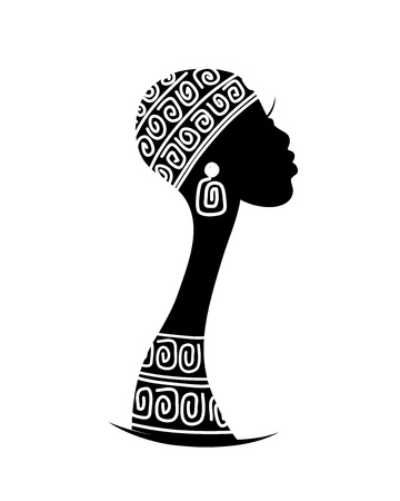 Illustration for Female head silhouette for your design - Royalty Free Image