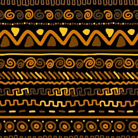 Ilustración de Handmade pattern with ethnic geometric ornament   - Imagen libre de derechos